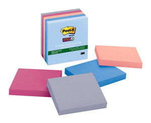 Post-it Recycled Super Sticky Notes 654-5SSNRP Bali 76x76mm 90 sheet pads Pkt/5
