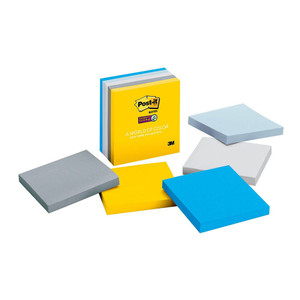 Post-it Super Sticky Notes 654-5SSNY New York 76x76mm 90 sheet pads  Pkt/5