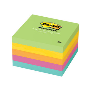 Post-it Notes 654-5UC Jaipur Collection 76x76mm 100 sheet pads Pkt/5