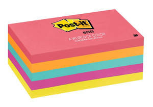 Post-it Notes 655-5PK Capetown Collection 76x127mm 100 sheet pads Pkt/5