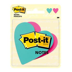 Post-it Notes 7350-HRT Die Cut Heart 73.6x71.1mm Pkt/2 pads