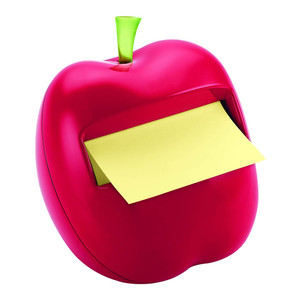 Post-it Pop Up Note Dispenser APL-330 Apple w 50 sheet refill pad