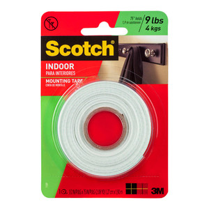 Scotch Indoor Mounting Tape 110P 12.7mmx1.9m