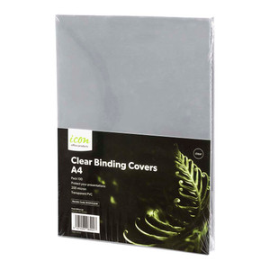 Icon Binding Covers A4 Clear 200mic Pack 100