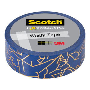 Scotch Expressions Foil Washi Tape C614-P8 15mm x 7m Constellation
