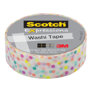 Scotch Expressions Washi Tape C314-P47 15mm x 10m Fun Dots