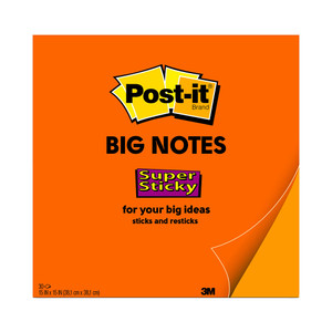 Post-it Super Sticky Big Notes BN15 Orange 381 x 381mm 30 sheet pads