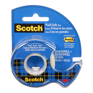 Scotch Tape Wall-Safe 183 19mm x 16.5m Roll