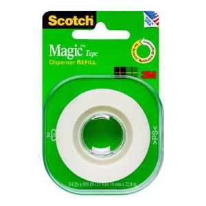 Scotch Magic Tape 205L Refill Roll 19mmx22.8m