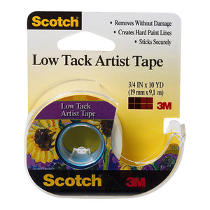 Scotch Artist Tape FA2020 Low Tack 19mm x 9.1m on dispenser