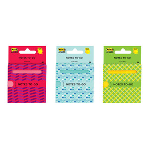 Post-it Notes 3030-NTG-Mx 76x76mm Notes To Go 90 sheets