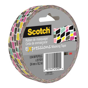 Scotch Expressions Masking Tape 3437-P13 25mm x 18m Graffiti