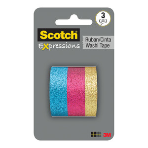 Scotch Expressions Washi Tape C1017-3-P2 15mm x 5m Multi Pack/3
