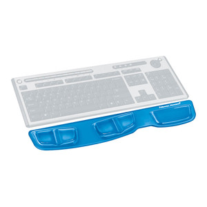Fellowes Gel Keyboard Palm Support Blue