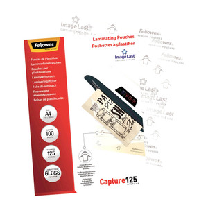 Fellowes Laminating Pouches A4 Gloss 125 Micron Pack of 100