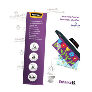 Fellowes Laminating Pouches A3 Gloss 80 Micron Pack 25