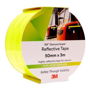 3M Diamond Grade Reflective Tape 983-23 Fluoro Yellow Green 50mm x 3m