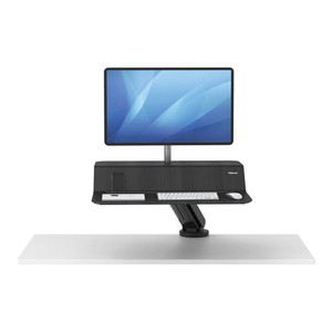 Fellowes Lotus RT Single Monitor Sit Stand Workstation Black