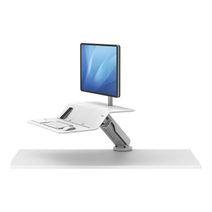 Fellowes Lotus RT Single Monitor Sit Stand Workstation White