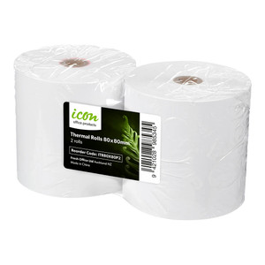 Icon Thermal Roll 80x80mm Pack 2
