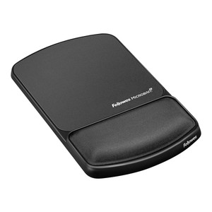 Fellowes Gel Lycra Mouse Pad with Wrist Rest Graphite