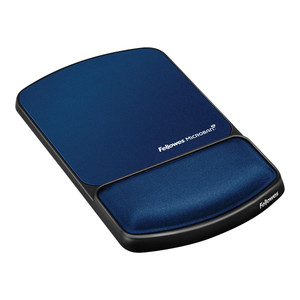 Fellowes Gel Lycra Mouse Pad with Wrist Rest Sapphire