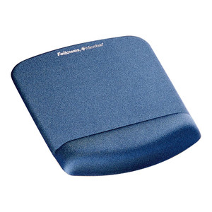 Fellowes PlushTouch Wrist Rest Mouse Pad Blue