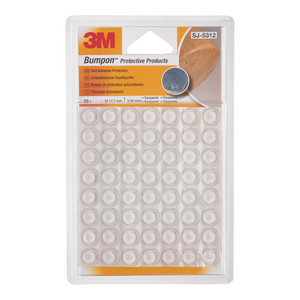3M Bumpon Furniture Protection SJ5312 Clear Pack of 56