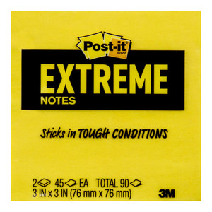 Post-it Extreme Notes 76x76mm Assorted Pack of 2