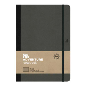 Flexbook Adventure Notebook Large Ruled Off-Black