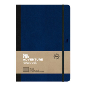 Flexbook Adventure Notebook Large Ruled Royal Blue