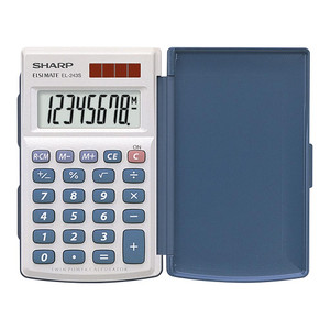 Sharp EL-243SB Twin Power Pocket Calculator with Cover