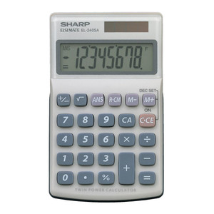 Sharp EL-240SAB Twin Power Pocket Calculator