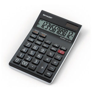 Sharp EL-124TWH Twin Power Desktop Tax Calculator