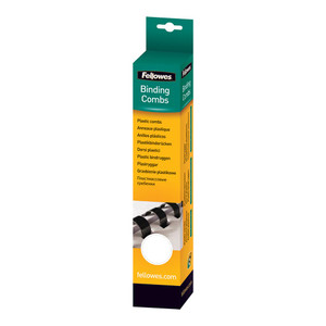 Fellowes Plastic Binding Combs 16mm White Pack 25