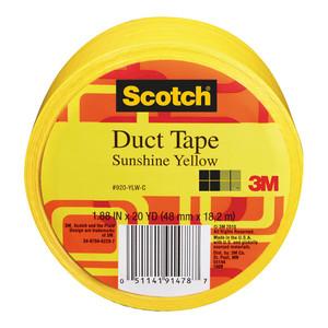 Scotch Duct Tape 920-YLW 48mm x 18.2m Sunshine Yellow