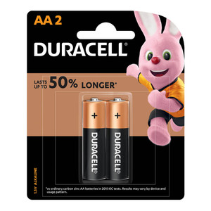 Duracell Coppertop Alkaline AA Battery Pack of 2