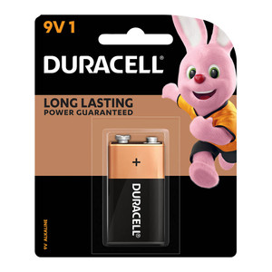 Duracell Coppertop Alkaline 9V Battery