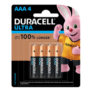 Duracell Ultra Alkaline AAA Battery Pack of 4