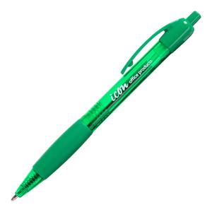 Icon Ballpoint Retractable Pen with Grip Medium Green