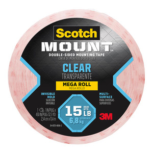Scotch Mounting Tape 410H-LNG Clear 25mmx11.4m