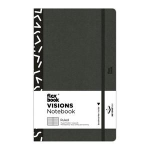 Flexbook Visions Notebook Medium Ruled Black