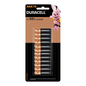 Duracell Coppertop Alkaline AAA Battery Pack of 14
