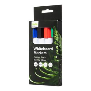 Icon Whiteboard Marker Bullet Tip Asst Pack 4