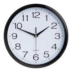 Italplast Wall Clock 30cm Black White