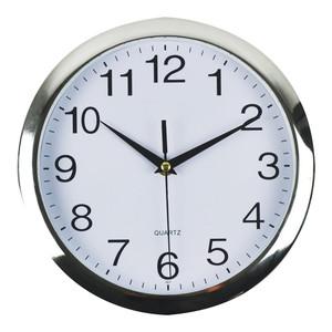 Italplast Wall Clock 260mm Chrome White