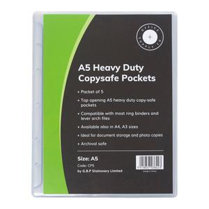 OSC Copysafe Pockets Heavy Duty A5 Pack 5