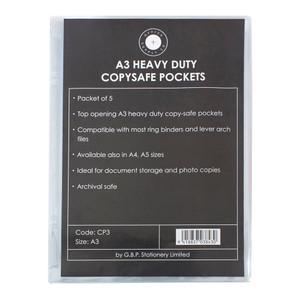 OSC Copysafe Pockets Heavy Duty A3 Pack 5