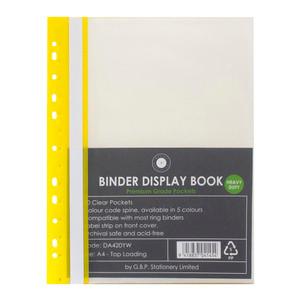 OSC Binder Display Book A4 20 Pocket Yellow