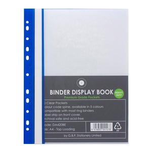 OSC Binder Display Book A4 20 Pocket Blue